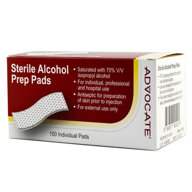 advocate sterile alcohol prep pad 100ct best value medical. Black Bedroom Furniture Sets. Home Design Ideas