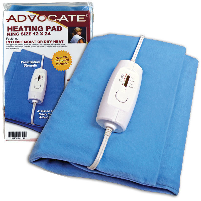 advocate heating pad king size best value medical