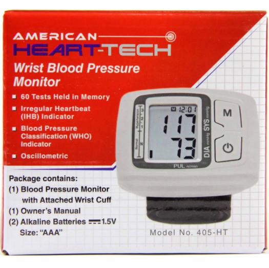 American Heart-Tech Wrist Blood Pressure Monitor
