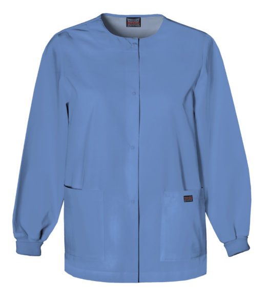 Cherokee Snap Front Warm Up Jacket Ciel Blue