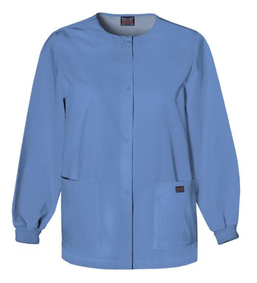 Cherokee Snap Front Warm Up Jacket Ciel Blue