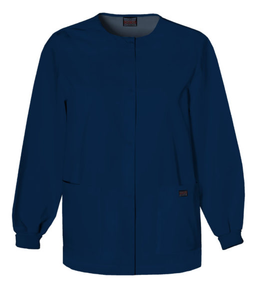 Cherokee Snap Front Warm Up Jacket Navy Blue