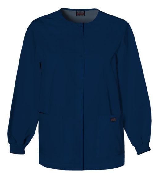 Cherokee Snap Front Warm Up Jacket Navy Blue