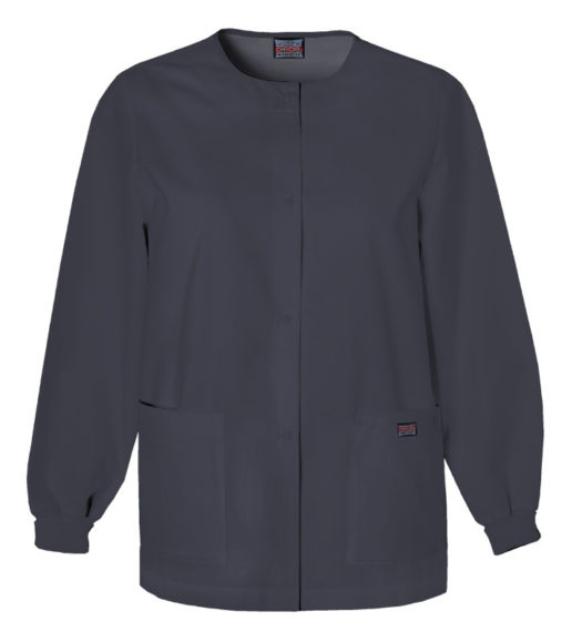 Cherokee Snap Front Warm Up Jacket Pewter