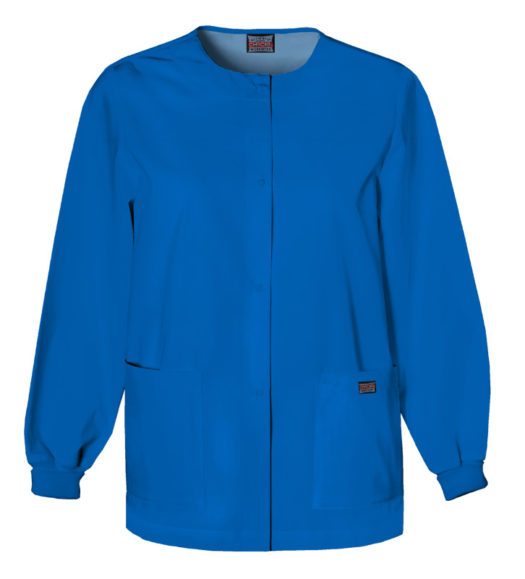 Cherokee Snap Front Warm Up Jacket Royal Blue