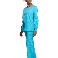 Cherokee Snap Front Warm Up Jacket Turquoise