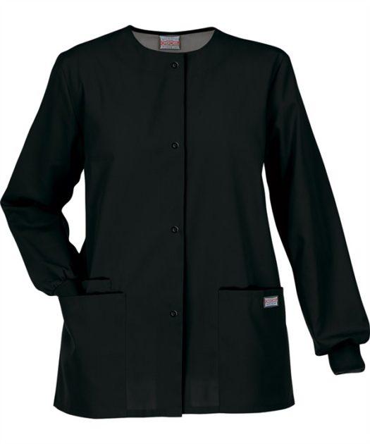 Cherokee Snap Front Warm Up Jacket Black