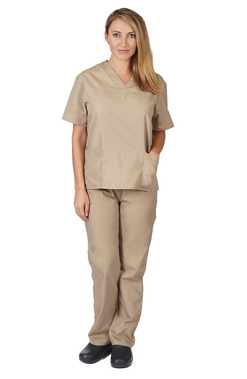 Natural Uniforms Khaki Scrub Set