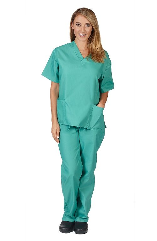 Natural Uniforms Surgical Green Scrub Set