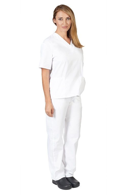 Natural Uniforms White Scrub Set
